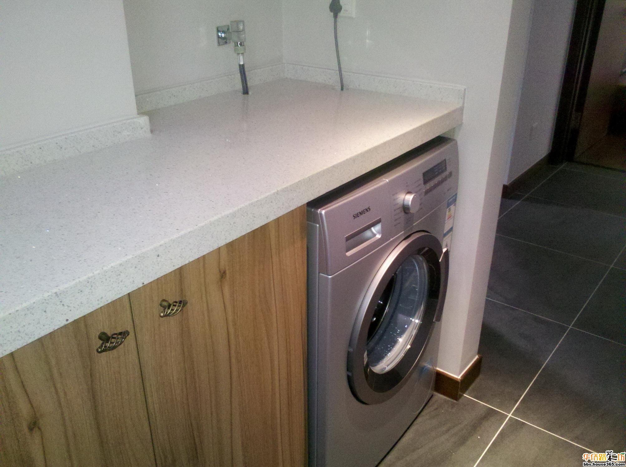 西门子洗衣机安装完毕