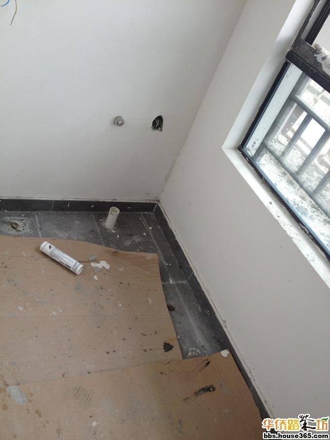 装修视频日记 铺阳台地砖二