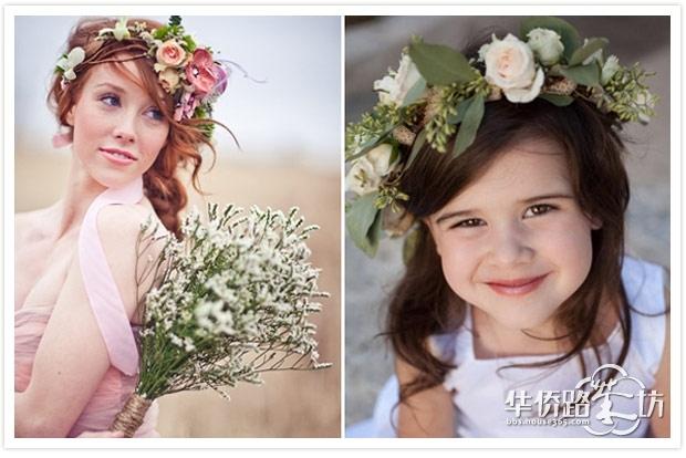 森林系的女生都想拥有一款美丽的花环