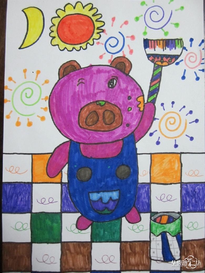 二年级小学生画房子_画画大全图片