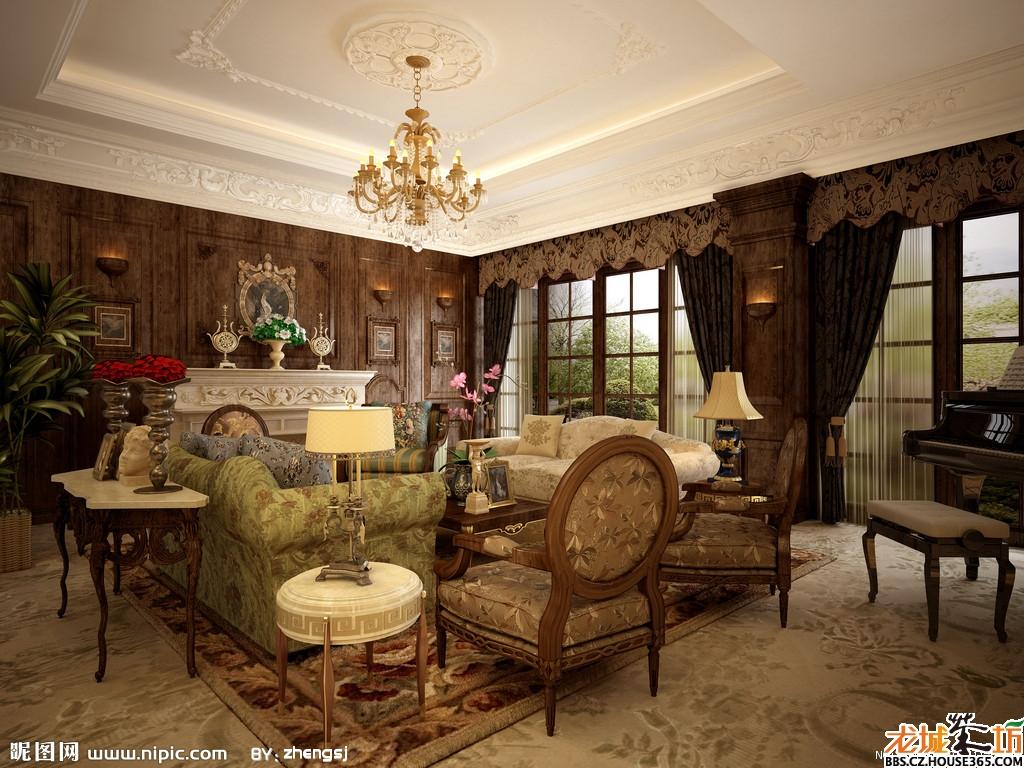 欧式客厅地砖效果图 奢华的欧式家居