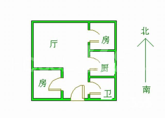 铜陵新村 2号地铁口 花冲公园旁 两室朝南 急售