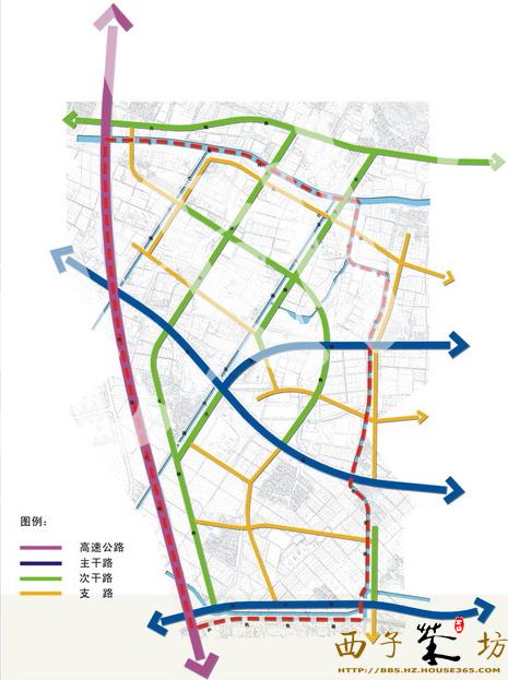 板块交通规划示意图