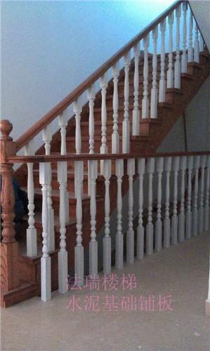 法瑞楼梯水泥基础铺实木板楼梯