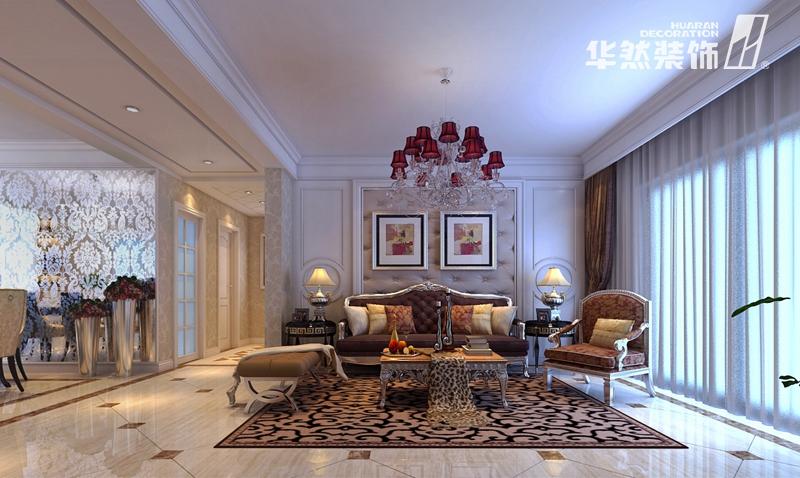 欧式客厅装饰链图