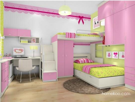 女孩上下床卧室装修效果图