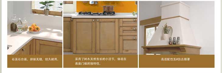 金牌厨柜之金牌厨柜 波西塔诺 实木板系列古典风格