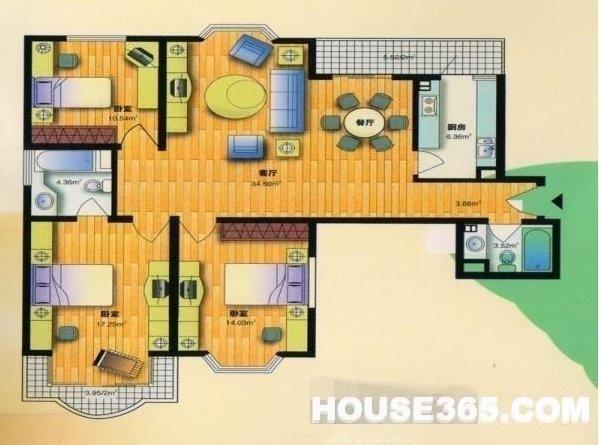 【玄武成贤公寓二手房,3室2厅2卫340万元】市区难得的