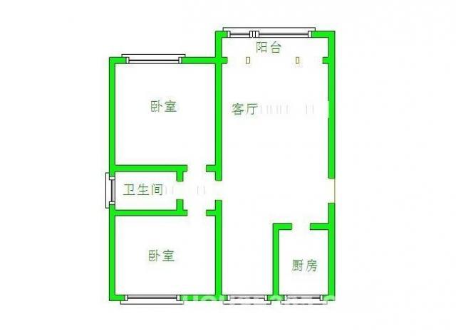 栖霞区仙林仙林新村南区2室2厅户型图