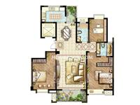 59#60#楼D户型-三室两厅一厨两卫140�O