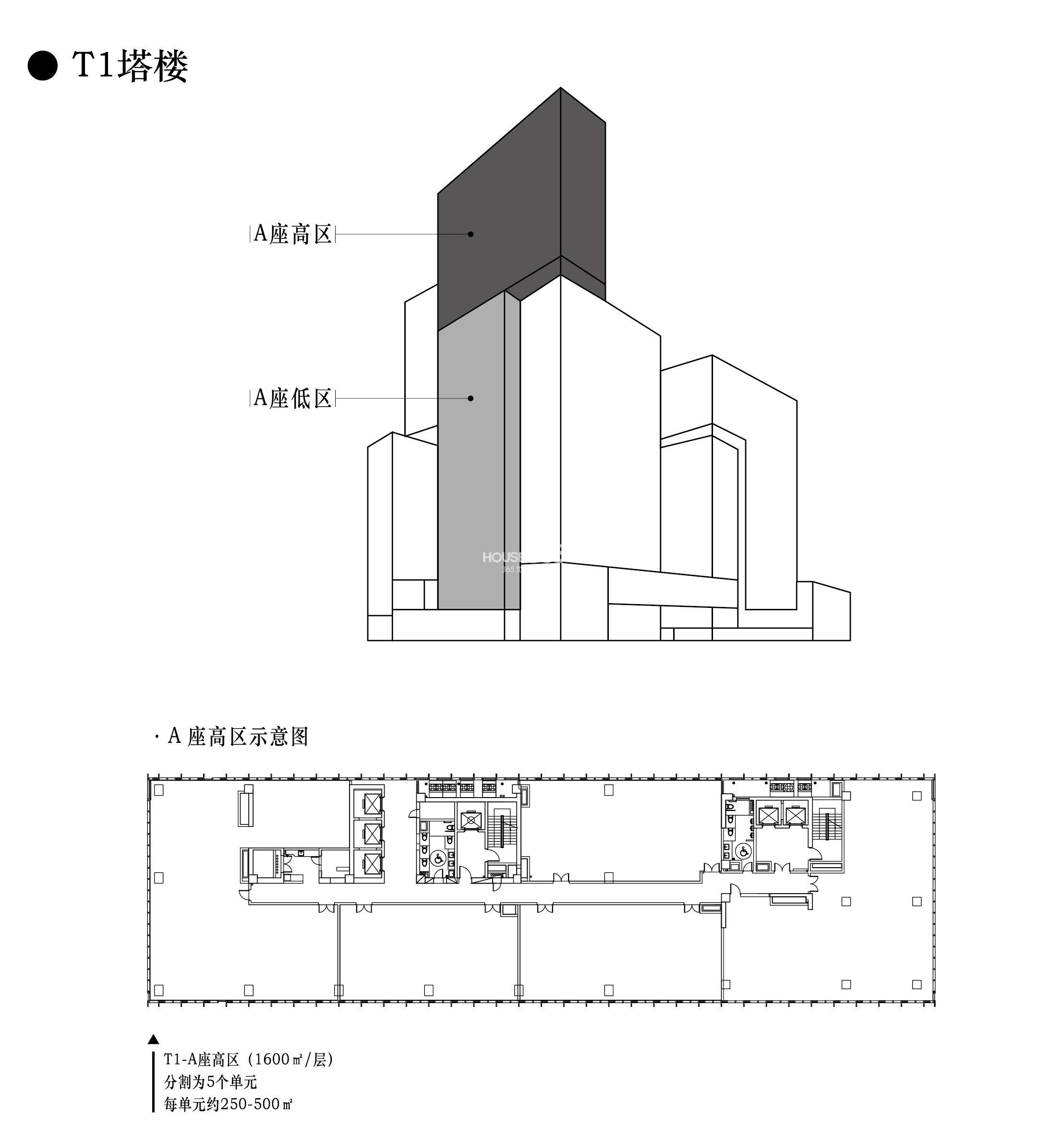 方塔楼平面布置