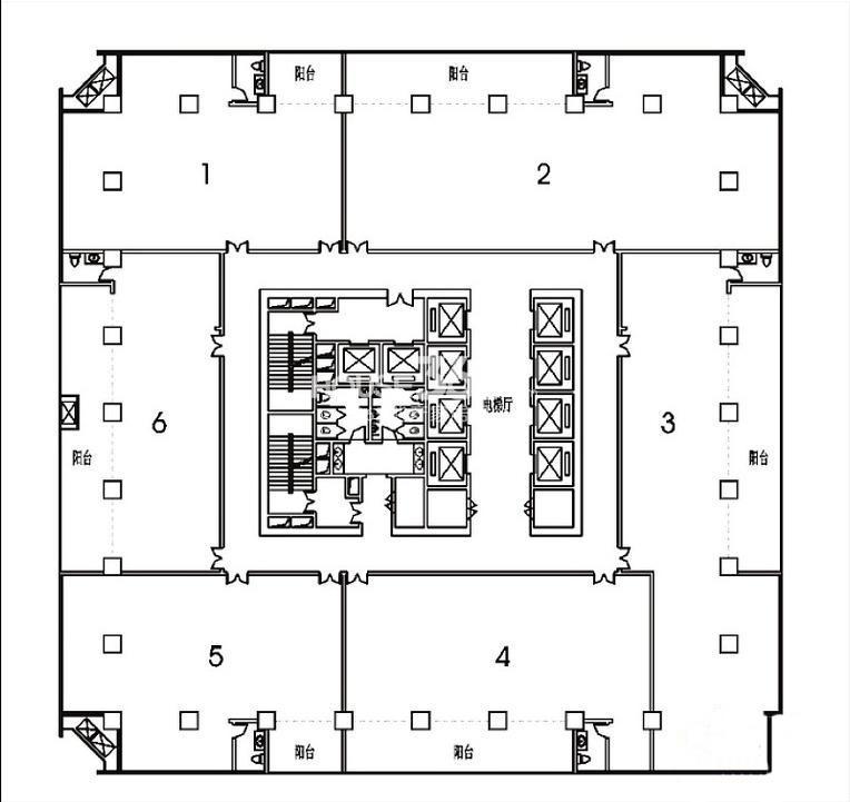 户型图|一方中港国际a塔楼楼层图-西安