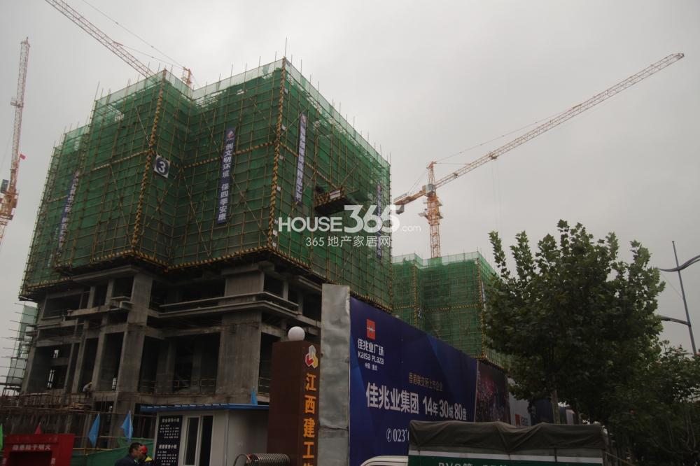 佳兆业广场3号楼工程进度(2013.11.14)