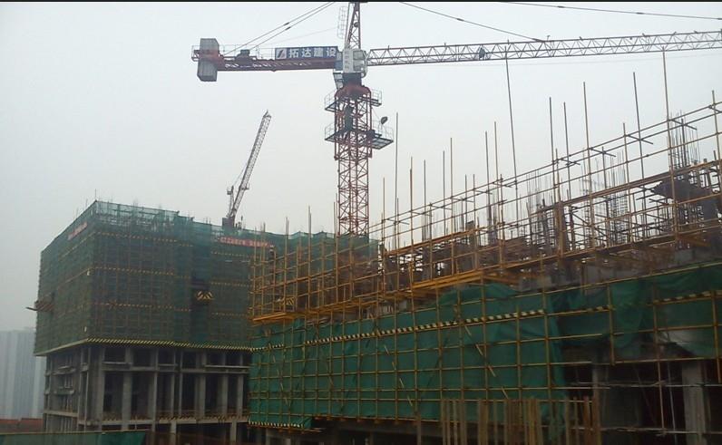万科西城一期施工进度图(2013.10.20)