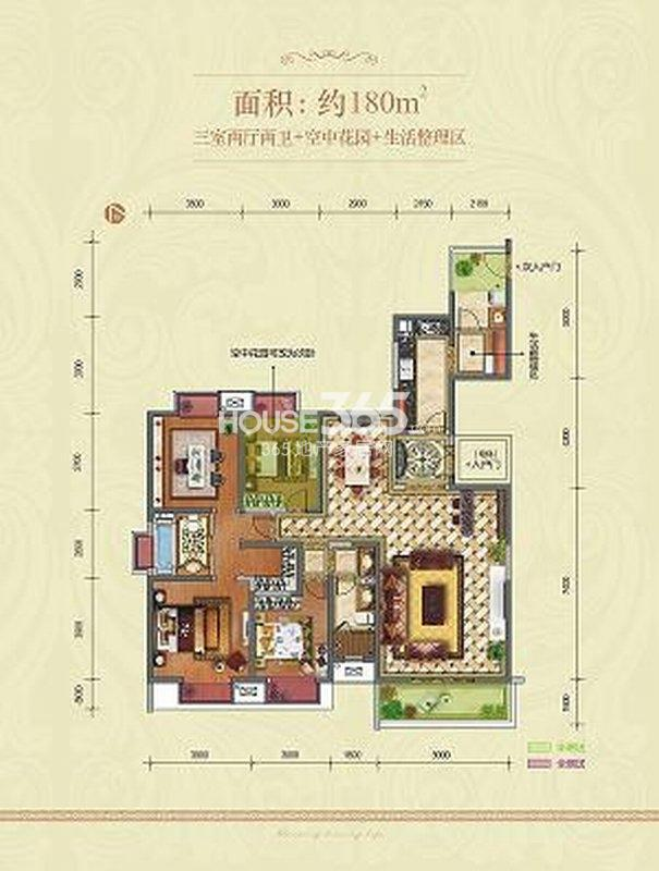 农村单层三室两厅房子设计图展示