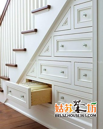"""樓梯巧收納設計 小戶型裝扮妙招讓家空間""""變大"""""""