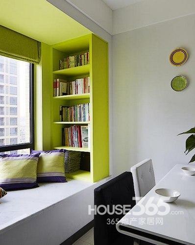 88平米装修简约风情 翠绿小家清新无处不在高清图片