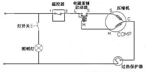 重锤式冰箱启动电路图