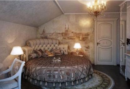 圆床卧室装修效果图,温馨浪漫由你设计