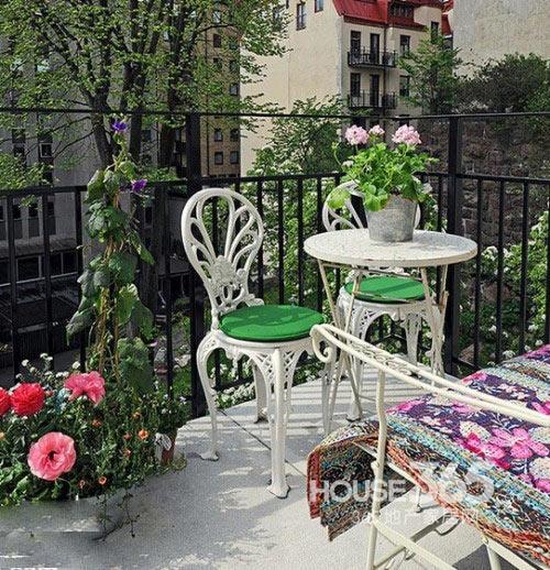 8个阳台装修效果图 置身花园享受休闲