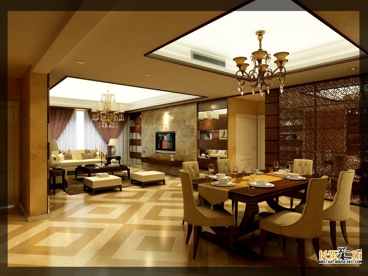 家居客厅装修效果图,170平简欧